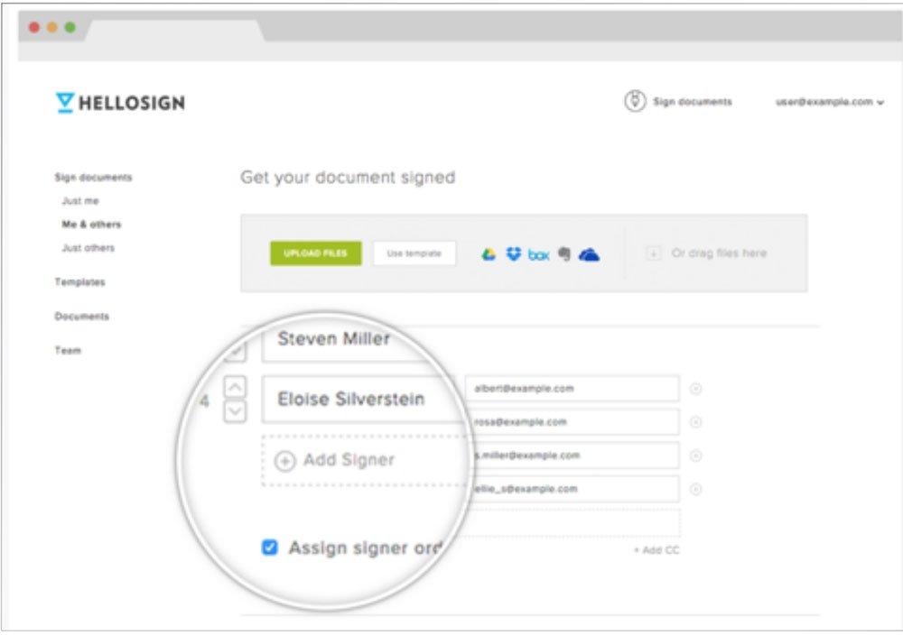 Screenshot Of HelloSign Website