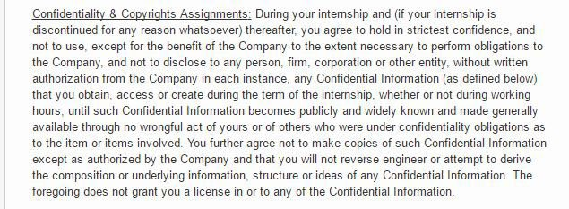 Internships And Non-Disclosure Agreements - Everynda