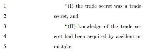 DTSA, fourth section on misappropriation