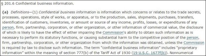What is Confidential business information