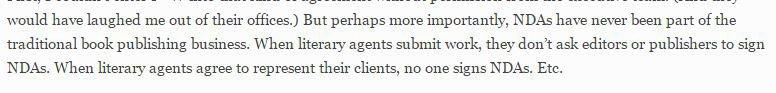 Jane Friedman opinion on Confidentiality & NDA agreements