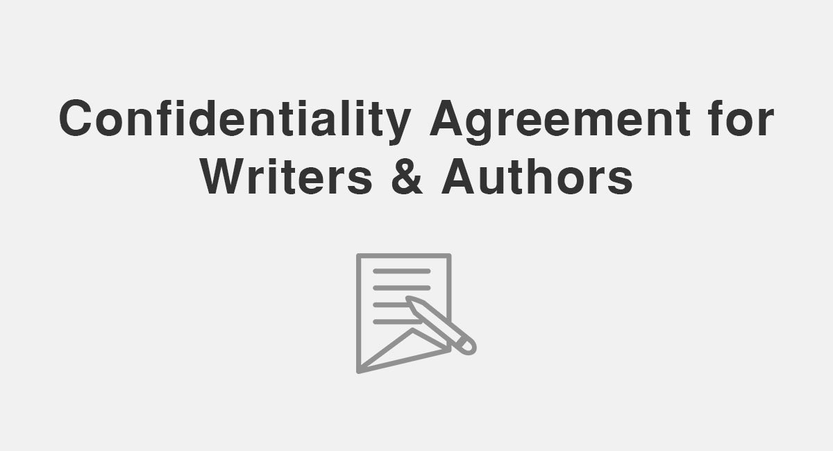 Confidentiality Agreement For Writers & Authors - Everynda