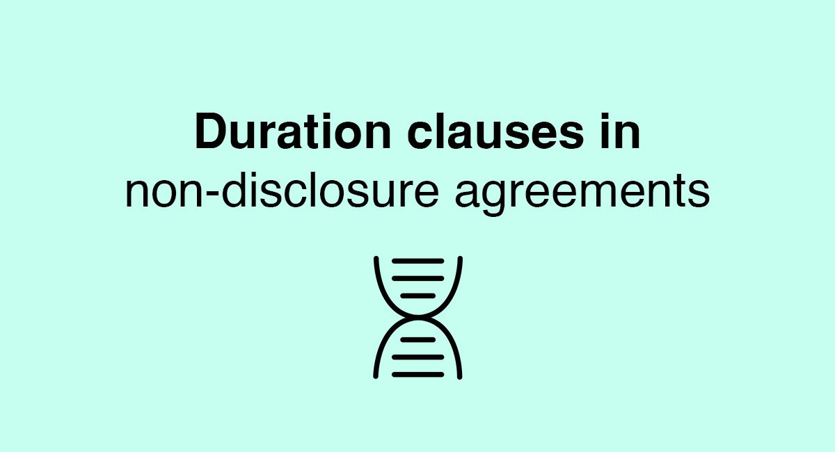 duration clauses in non disclosure agreements