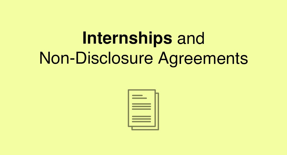 Internships And Non Disclosure Agreements Everynda