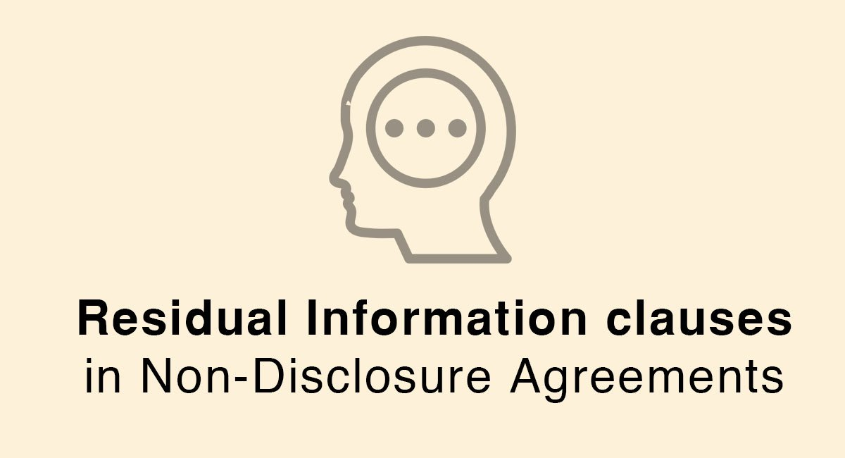 Residual Information Clauses In Non-Disclosure Agreements - Everynda