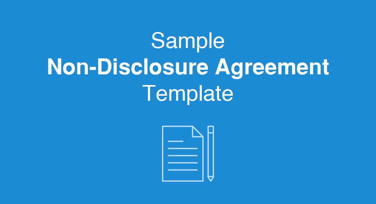 Sample NonDisclosure Agreement Template  Everynda