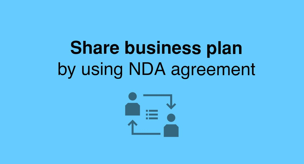 share business plan by using nda agreement