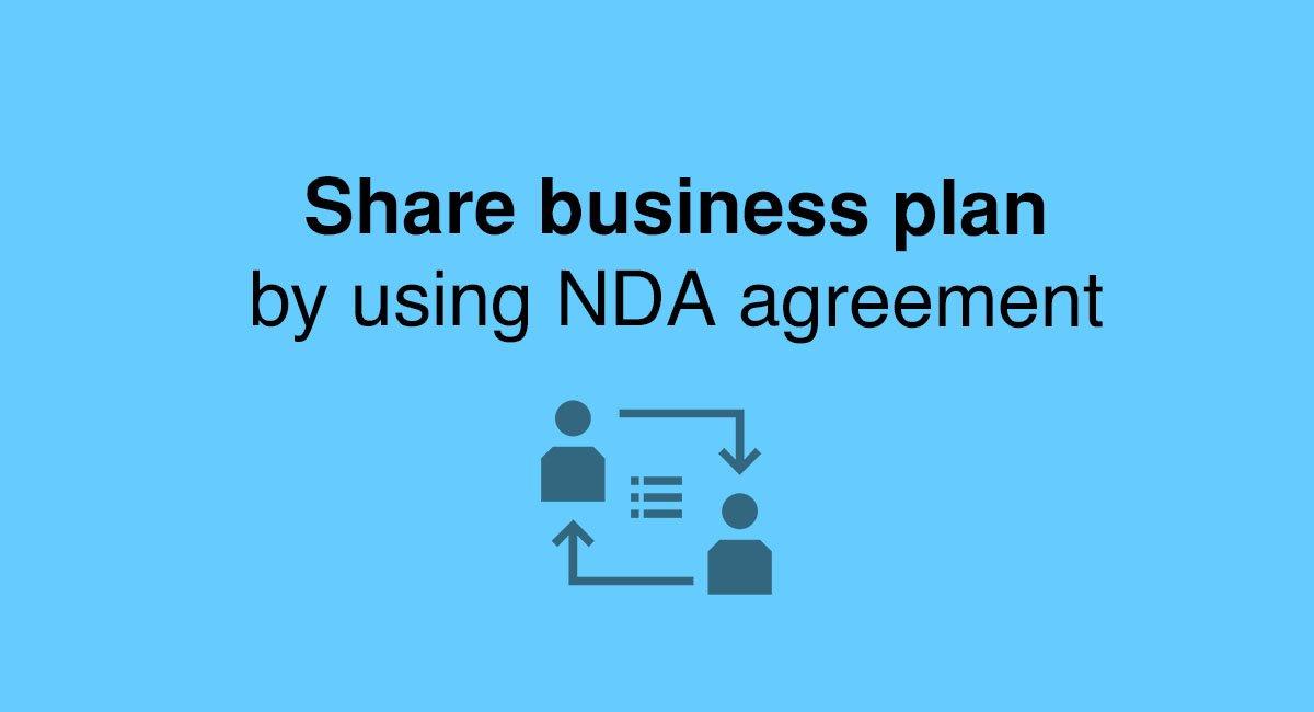 Share business plan by using NDA agreement - EveryNDA