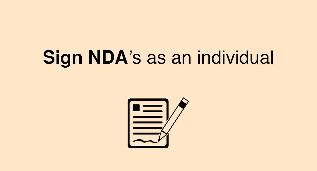 Sign NDAs As An Individual EveryNDA - Individual nda template