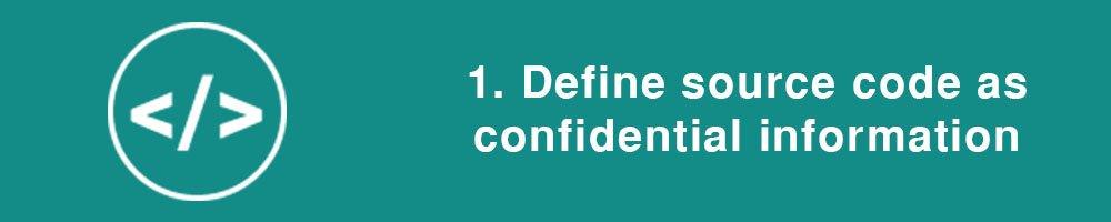 1. Define source code as confidential information