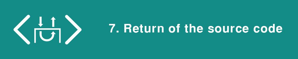 7. Return of the source code