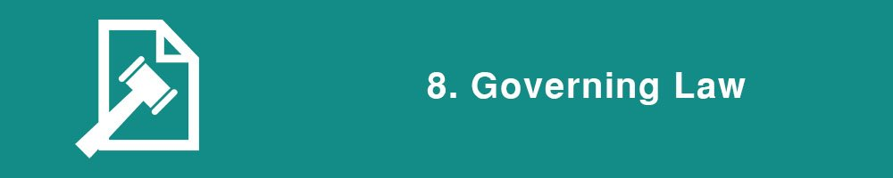 8. Governing Law