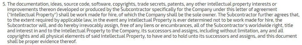 Apriorit NDA for outsourcing: The Intellectual Property clause