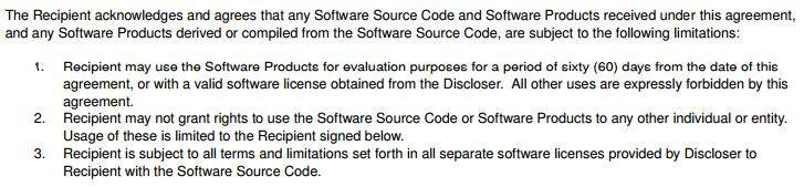 Wingware NDA Agreement: Only for testing and evaluation purposes